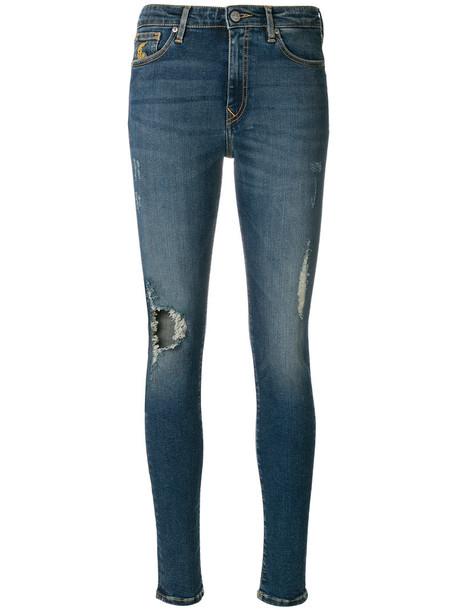 jeans denim women spandex fit cotton blue