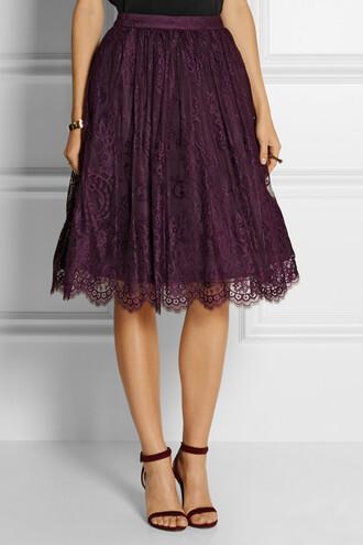 alice + olivia alice + olivia perkins lace skirt perkins lace skirt