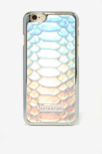 phone cover iridescent nastygal snake snake print shiny holographic technology