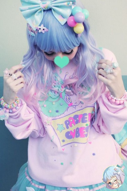 sweater dope kawaii pastel style