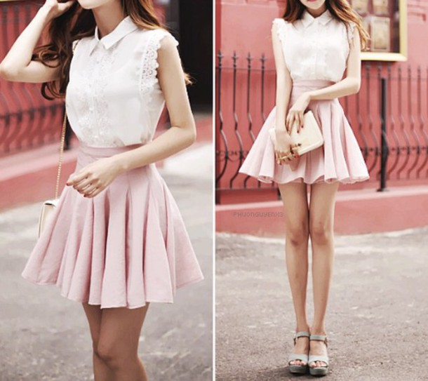 Blouse Cute Korean Fashion Girly White Blouse Wheretoget