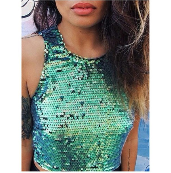 top halter top sequin top sparkly top aqua turquoise stylish style style trendy trending  now trendy trendy on point clothing fashion inspo fashion inspo tumblr outfit tumblr shirt tumblr top tumblr girl blogger blogger blogger blogger fashionista