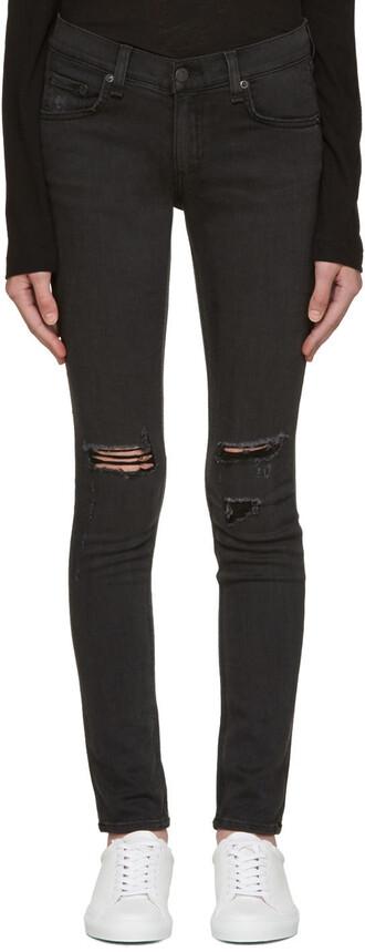 jeans skinny jeans rock soft black