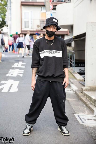 shirt black and shirt loose quote on it black text menswear mens sweater loose sweater urban menswear urban