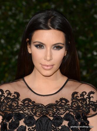 top mesh embellished kim kardashian
