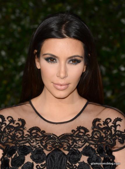embellished top mesh kim kardashian