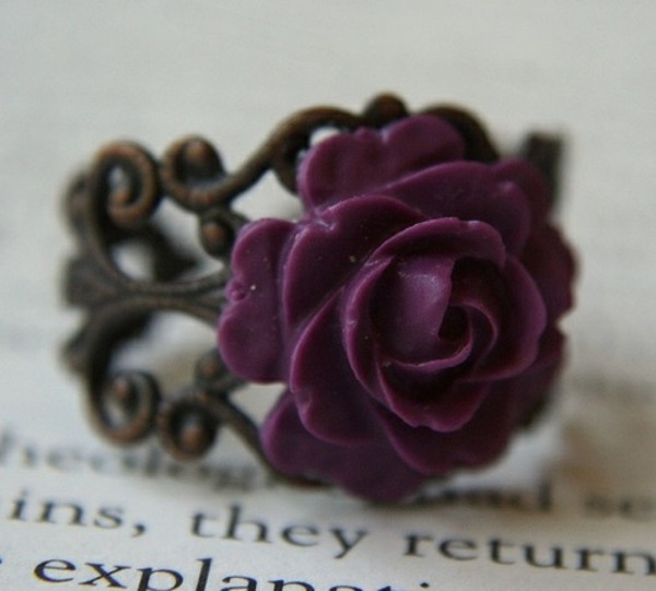 jewels ring violet pink rose vintage hot wanted sexy good