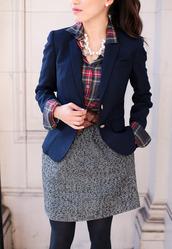 skirt,tumblr,mini skirt,grey skirt,tights,opaque tights,shirt,tartan shirt,tartan,plaid,plaid shirt,flannel shirt,flannel,blazer