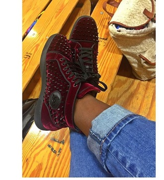 shoes seude burgundy shoes high top sneakers