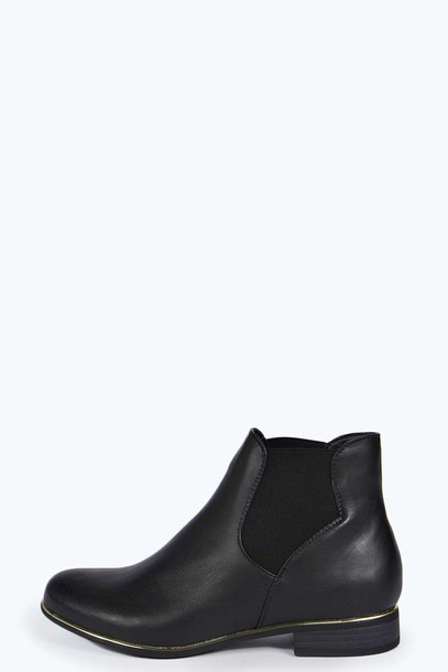 shoes chelsea boots gold black shoes ankle boots