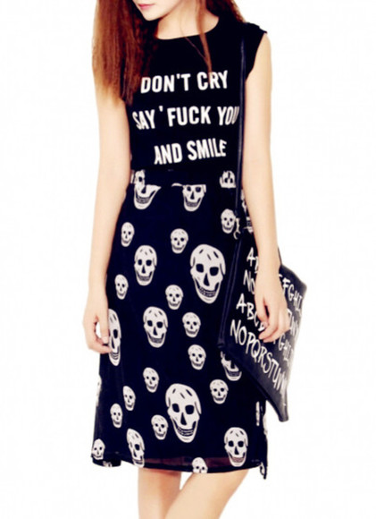 skirt dress top blackfive skull skull t-shirt skeleton skeleton shorts t-shirt shirt outfit halloween costume halloween clothes bottoms bag clutch handbag fashion