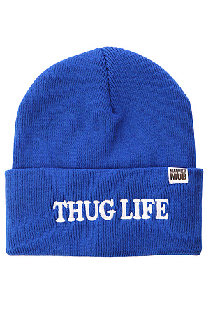Married to the Mob Beanie Thug Life Blue -  Karmaloop.com