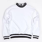 sweater,white,white sweater,gosha,russian,russian chic,korean fashion,korean style,korean street fashion,korean street style,black and white