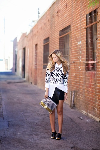 jumper blogger late afternoon white shirt derbies