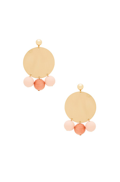 Rebecca Minkoff statement ball metallic gold jewels