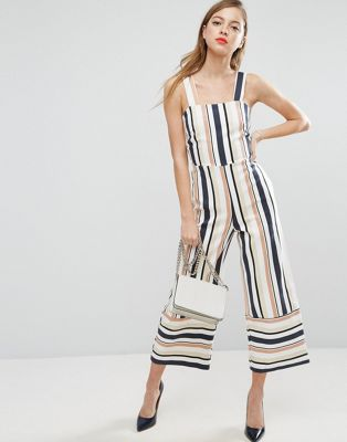 ASOS Pinny Jumpsuit in Stripe at asos.com