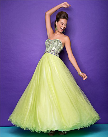 princess yellow prom prom dress glitter bustier bustier dress chiffon netted