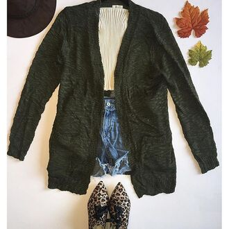cardigan divergence clothing olive green olive green sweater olive green cardigan knitwear oversized cardigan green cardigan grunge sweater oversized sweater tumblr girl winter outfits fall outfits knits knit knitted sweater
