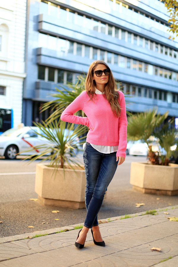 seams for a desire sweater shirt jeans shoes