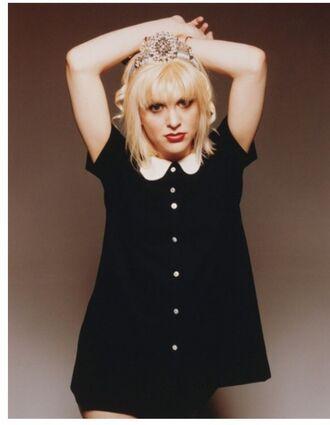 blouse courtney love grunge peter pan collar black