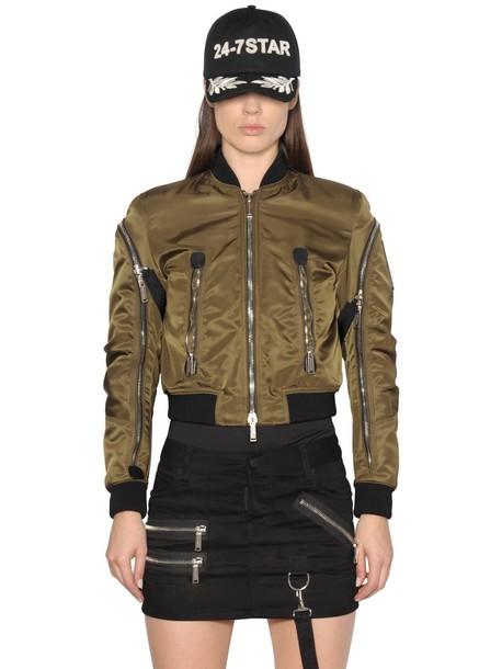 Dsquared2 jacket bomber jacket green