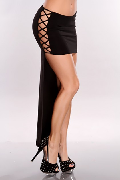 Side Cut Out High Low Hem Skirt @ Amiclubwear Clothing Skirts ...