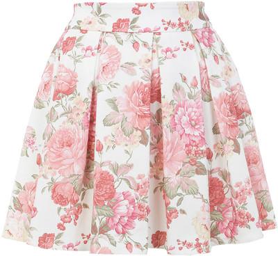 Miss selfridge floral print skater skirt