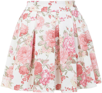 Miss Selfridge Floral Print Skater Skirt - Polyvore