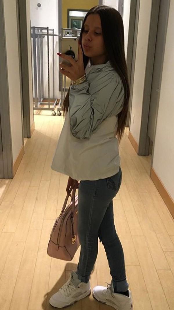 63769ec5e4a4 Women s FILA SPORT Reflective Hooded Windbreaker Jacket