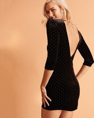 dress party dress little black dress black dress mini dress karlie kloss editorial holiday dress velvet velvet dress