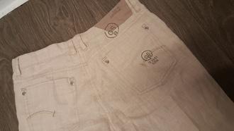 pants brown pants linen gstar beige pants