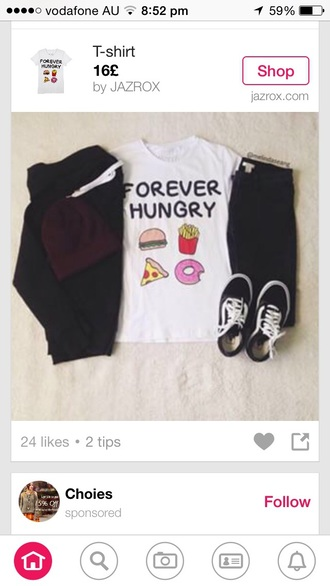 shirt white food black dress style shoes colorful girly dress top t-shirt
