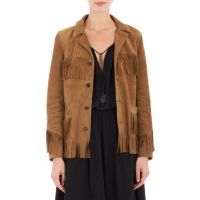 Saint Laurent Fringed Suede Jacket at Barneys.com