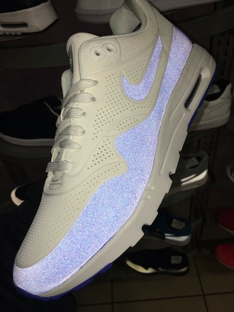 shoes sneakers nike air max grey blue suede suede sneakers beautiful cute pattern baby blue trainers aesthetic glitter white nike air nike shoes nike running shoes nike sneakers nike air max 1 sports shoes nikes glow in the dark