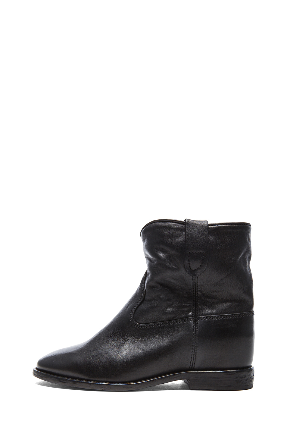 isabel marant cluster leather boots in black leather. Black Bedroom Furniture Sets. Home Design Ideas