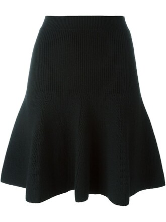 skirt knit women spandex black wool