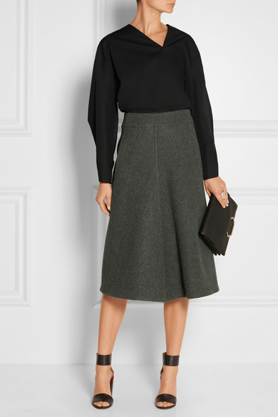 Melton wool midi skirt | NET-A-PORTER.COM