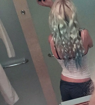 shorts pastel hair stripes