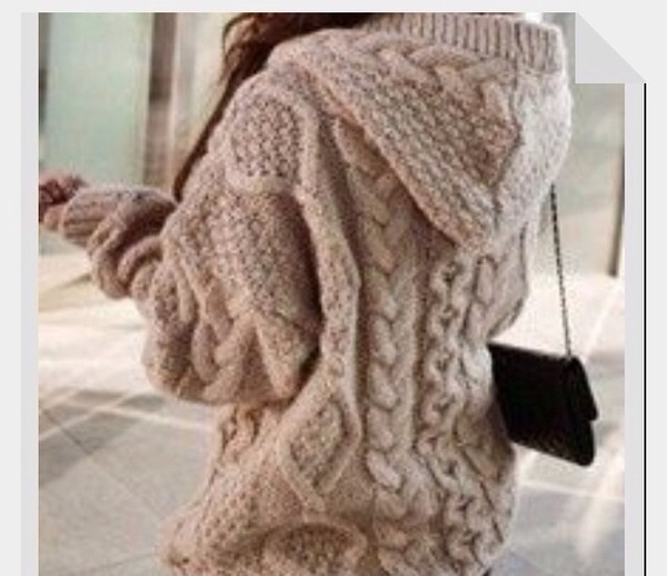 coat sweater brown lovely knit