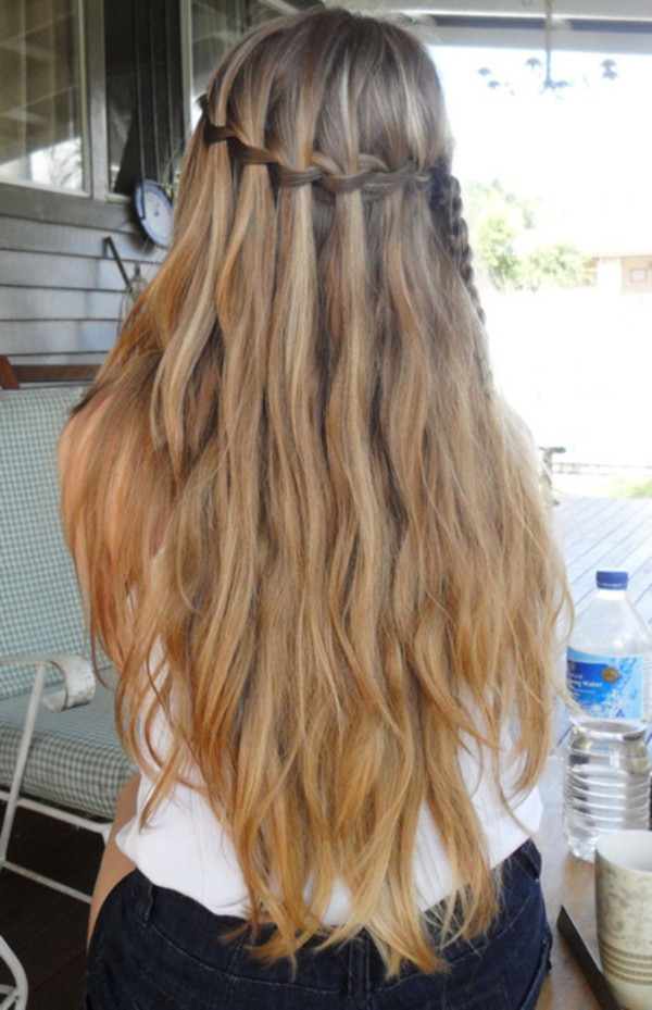 hat hair braid hipster girly cute long hair beach hair plait