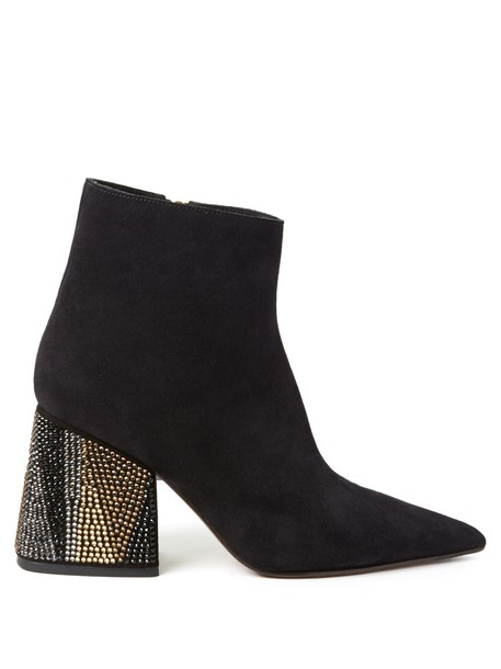 MARNI suede ankle boots ankle boots suede black shoes