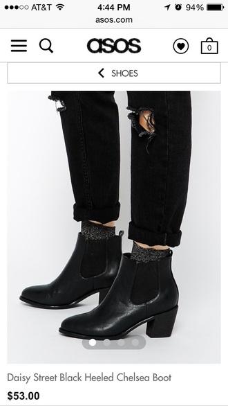 shoes daisy street asos black boot daisy street black heeled chelsea boot