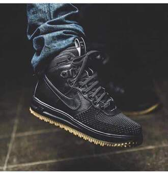 shoes exc nike teyana taylor black matte high top sneakers black shoes fl1 nike sneakers black nike