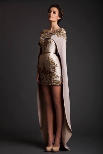 dress gold dress white dress high low dress