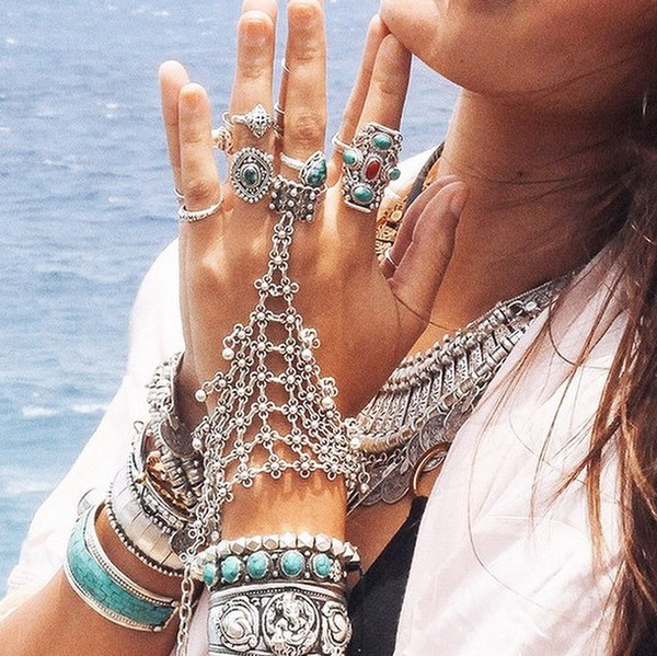 jewels gypsy gypset handharness dixi shopdixi shop dixi jewelry jewelry ring ring boho bohemian hippie festival festival festival accessories turquoise stone crystal jewelry bracelets jewelry rings sterling sterling silver ring sterling silver turquoise jewelry gemstone