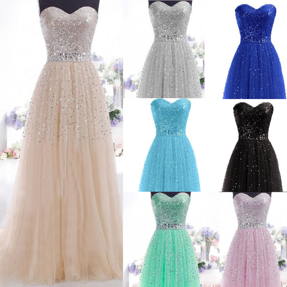 Formal Long Evening Ball Gown Party Prom Bridesmaid Dress Stock ...