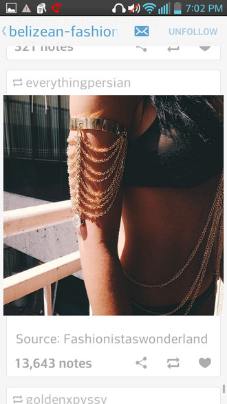 jewels arm chain arm cuff arm jewelry gold jewelry
