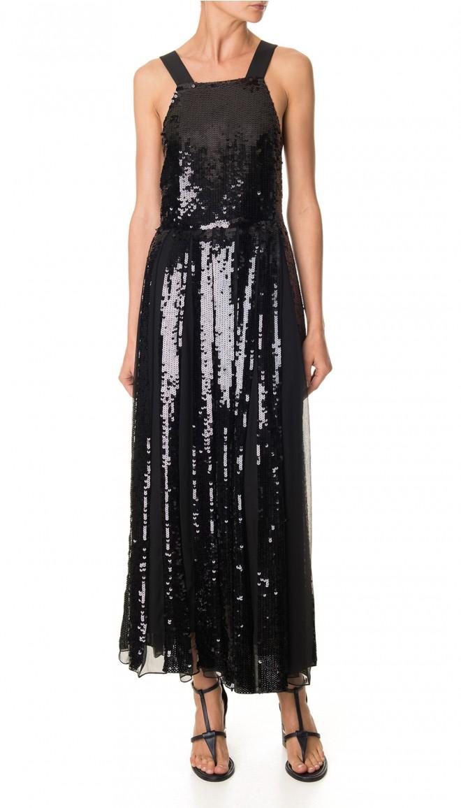 cfb0383da1c Tibi Éclair Sequins Overall Dress