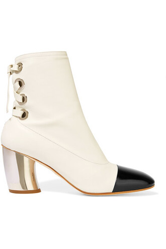 leather ankle boots boots ankle boots leather white shoes