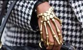 jewels,skull,bones,bones bracelet,gold bracelet,bracelets,cute,edgy,bones jewelry,gold jewelry,gold ring,bones rings